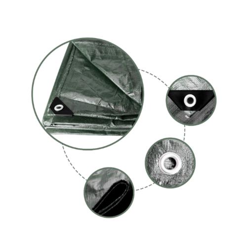 POLLO ผ้าใบเอนกประสงค์ 3m*4m สีเขียวเข้ม 3m*4m สีเขียวเข้ม