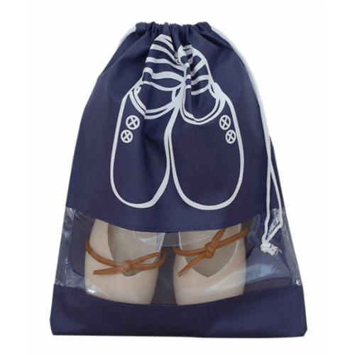 WETZLARS ถุงผ้าใส่รองเท้า Size-L แพ็ค 10ใบ FCJ002-BU สีน้ำเงิน