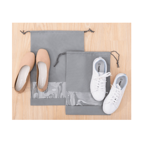 WETZLARS ถุงผ้าใส่ร้องเท้า ขนาด M&L 27x35.5x0.040 cm.  แพ็ค 10ใบ FCJ003-GY สีเทา