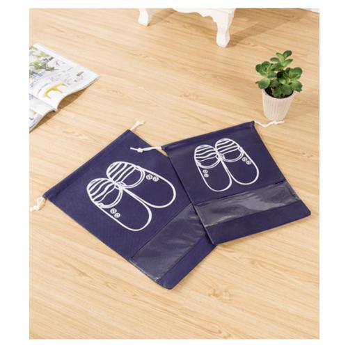 WETZLARS ถุงผ้าใส่รองเท้า Size-M&L  แพ็ค 10ใบ FCJ003-BU สีน้ำเงิน