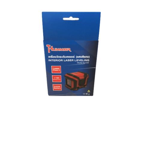 HUMMER เครื่องวัดระดับเลเซอร์ (แสงสีแดง) NLC02 สีแดง