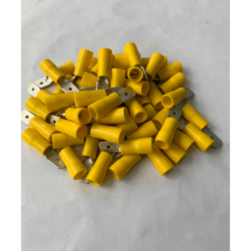 V.E.G หัวเสียบตัวผู้(แบบแบนหุ้ม) V6-7B สีเหลือง