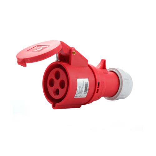 V.E.G ปลั๊กตัวเมียกลางทาง RG-C224 สีแดง