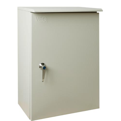 V.E.G. ตู้กันน้ำแบบมีหลังคา  SBP-7 สีเทาอ่อน