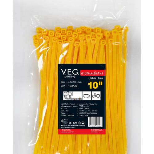 V.E.G เคเบิ้ลไทร์4.8x250 10นิ้ว  - สีเหลือง