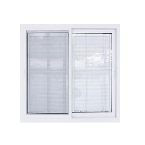 - หน้าต่างไวนิล กระจกสองชั้นพร้อมมูลี่และมุ้ง ขนาด 1200x1100mm  KWB1211-2P สีขาว