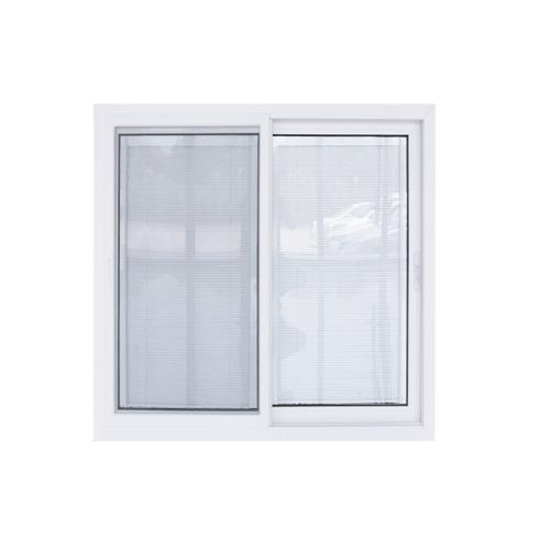 - หน้าต่างไวนิล  กระจกสองชั้นพร้อมมูลี่และมุ้ง ขนาด1500x1100mm  KWB1511-2P สีขาว