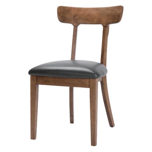 Pulito เก้าอี้รับประทานอาหาร อีธาน ขนาด 55x46x83ซม. สีวอลนัท-เบาะดำ