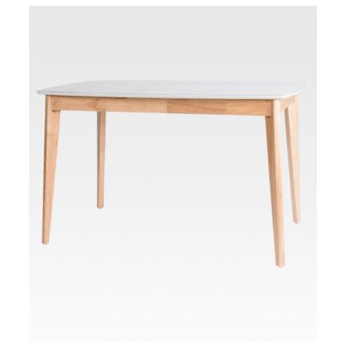 Pulito โต๊ะอาหารเอริค ท็อปสีขาว  สีธรรมชาติ