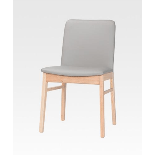 Pulito เก้าอี้รับประทานอาหารอีสตัน ขนาด 49x125x80ซม. สีธรรมชาติ-เบาะเทา