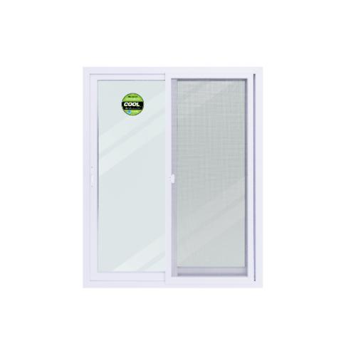 Wellingtan หน้าต่างไวนิล บานเลื่อน SS  ขนาด100cm.  WEIG1012-2P สีขาว