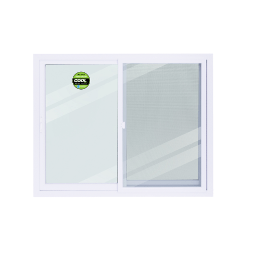 Wellingtan หน้าต่างไวนิล บานเลื่อน SS ขนาด 150cm.  WEIG1512-2P สีขาว