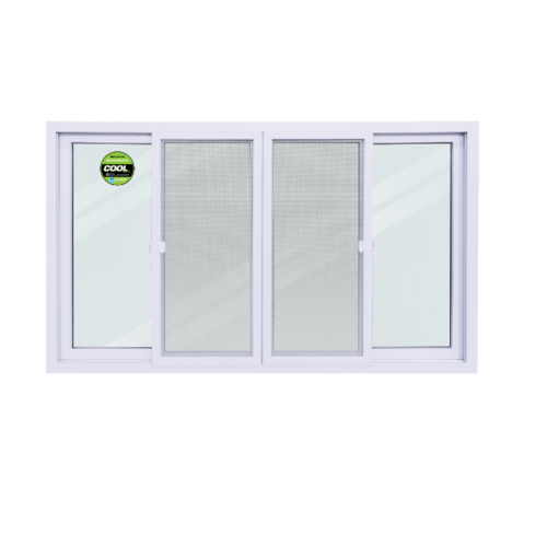 Wellingtan หน้าต่างไวนิล บานเลื่อน SS ขนาด 200cm.   WEIG2012-4P สีขาว