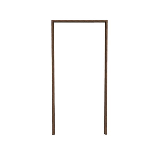 Wellingtan วงกบประตู ขนาด  70x200ซม. Dark Brown  ABS-AF1-04