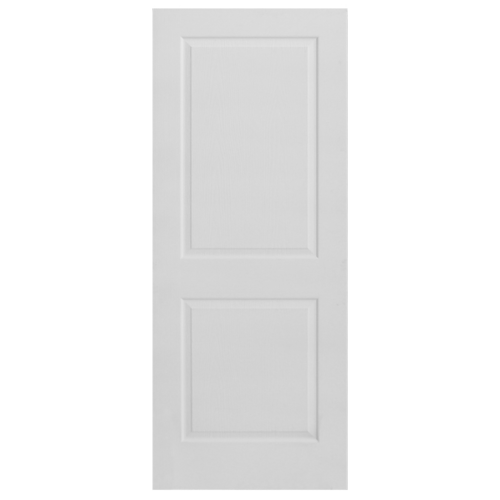 HOLZTUR ประตู HDF บานทึบ 2ฟัก ขนาด 80x200ซม.  HDF-017 สีขาวลายไม้