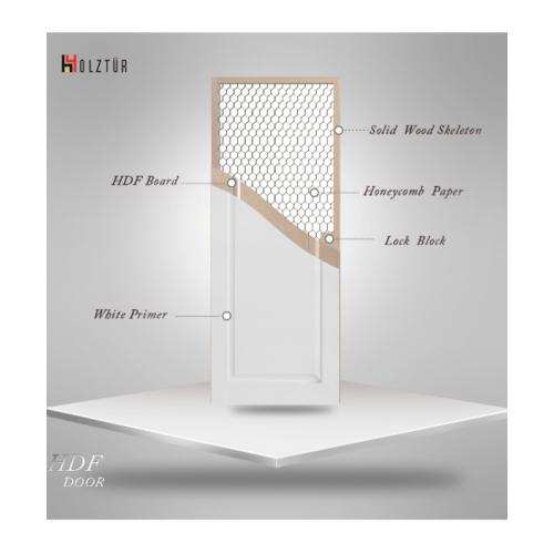 HOLZTUR ประตู HDF บานทึบ ฟักเต็มบาน ขนาด 80x200ซม. HDF-001 สีขาว