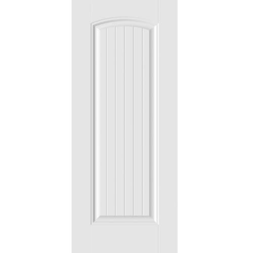 HOLZTUR ประตู HDF บานทึบฟักเต็มบาน ขนาด 80x200ซม. HDF-S05 สีขาว