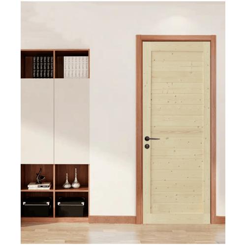 GREAT WOOD ประตูไม้สน บานทึบทำร่อง ขนาด 80x200ซม. PW-SK01-2