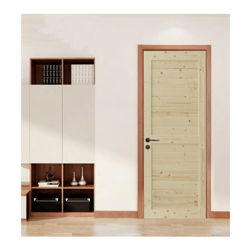 GREAT WOOD ประตูไม้สน บานทึบทำร่อง ขนาด 80x200ซม. PW-SK02-2