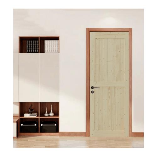 GREAT WOOD ประตูไม้สน บานทึบเซาะร่องลูกฟัก  80x200ซม.  PW-SK02G