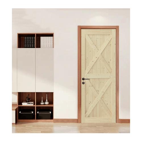 GREAT WOOD ประตูไม้สน บานทึบทำร่อง ขนาด 80x200ซม. PW-SK11G