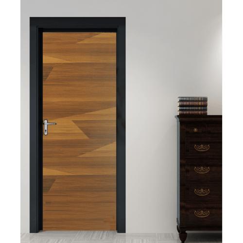 HOLZTUR ประตูเมลามีน บานทึบเรียบ ขนาด 80x200 ซม. MD-F01-12 สีไม้สัก