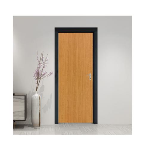 HOLZTUR ประตูปิดผิวพีวีซี บานทึบเรียบ ขนาด 80x200ซม. PVC-F01-GC18  สีโอ๊ค