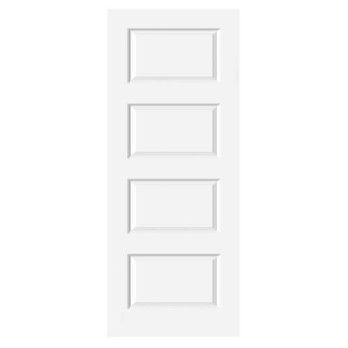 HOLZTUR ประตู HDF บานทึบ 4 ลูกฟัก ขนาด 80x200ซม.  HDF-011 สีขาว