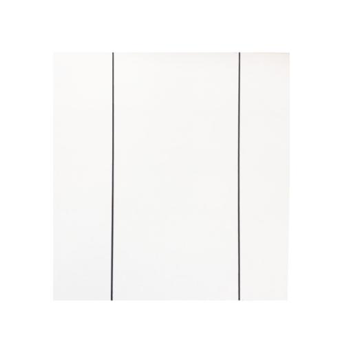 Wellingtan ประตู WPC บานทึบเซาะร่องดำ 80x200ซม. สีขาวมุข (ไม่เจาะ) WPC-01