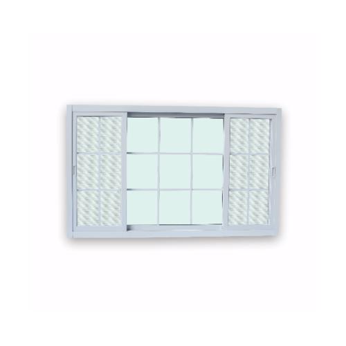 Wellingtan หน้าต่างอลูมิเนียมบานเลื่อน  ขนาด 180x110ซม. SFS G-WG1811-3P  สีขาว