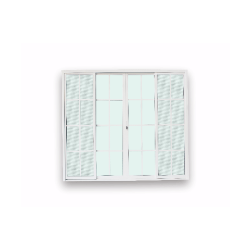 Wellingtan ประตูอลูมิเนียมบานเลื่อน ขนาด 240x210ซม. FSSF G-DG2421-4P  สีขาว