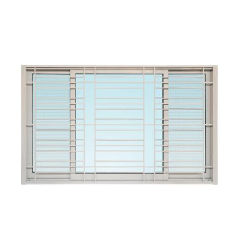 Wellingtan หน้าต่างอลูมิเนียมบานเลื่อน SFS พร้อมเหล็กดัด ขนาด 180x110ซม. ICWG1811-3P  สีขาว