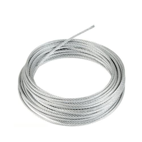 - ลวดสลิงหุ้ม PVC ใส ขนาด 4.0 มิล  7x7 (ไส้สเตนเลส)  ยาว 100 เมตร