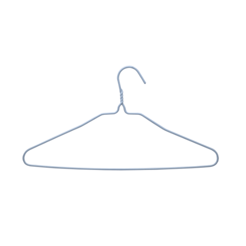 SAKU ไม้แขวนเสื้อลวดหุ้มพลาสติก แพ็ค 10 ชิ้น JMZM002-BL  สีฟ้า