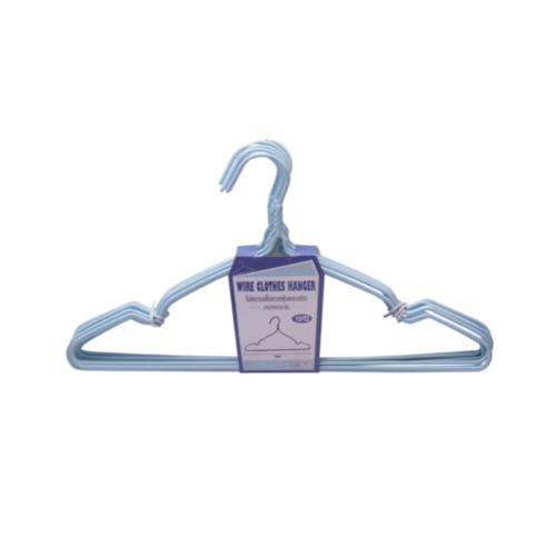 SAKU ไม้แขวนเสื้อหุ้มพลาสติก แพ็ค 10 ชิ้น  JMZM008-BL สีฟ้า