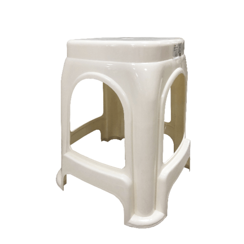 GOME เก้าอี้พลาสติก 4 ขา ZH009-BE  สีขาว