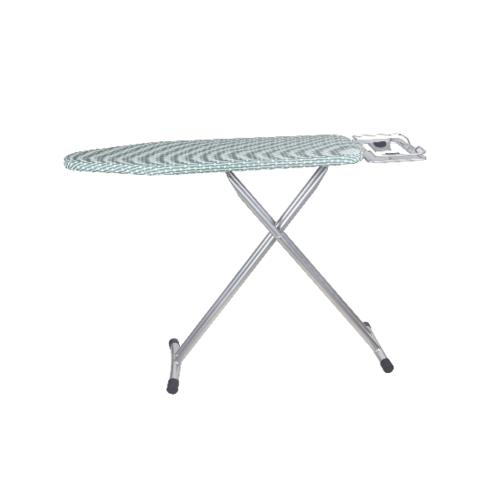 LUXUS โต๊ะรีดผ้ายืนรีด ขนาด 30x110x85ซม.  SBD004-S สีขาว