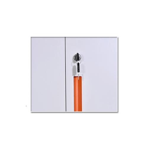 ULA ตู้เก็บเอกสารแบบกระจกบานเปิด 90x40x90ซม. ขาว-ส้ม BDL15