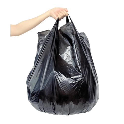 ICLEAN ถุงขยะม้วน มีหู ขนาด 24x30 นิ้ว บรรจุ 30ใบ/ม้วน DZH002-BK สีดำ
