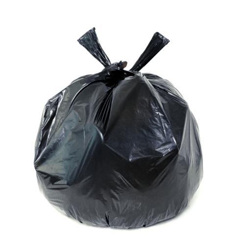 "ICLEAN ถุงขยะม้วน Iclean มีหู ขนาด 24""x30"" บรรจุ 30ใบ/ม้วน สีดำ DZH002-BK สีดำ"