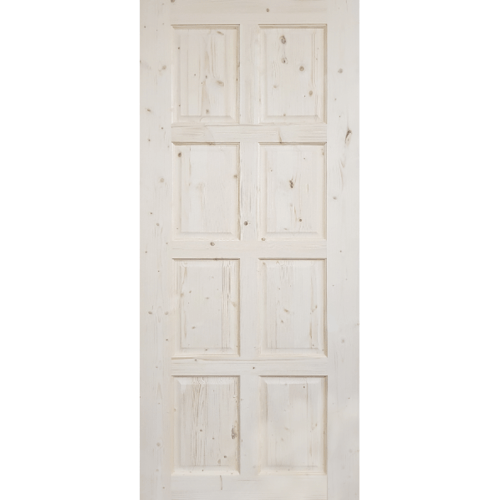 GREAT WOOD ประตูไม้ไวท์วู๊ด บานทึบ 8ฟัก ขนาด 80x200cm. DPWD8020-8