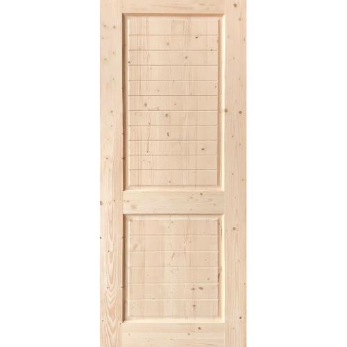 GREAT WOOD  ประตูไม้ไวท์วูด บานทึบลูกฟักทำร่อง  ขนาด80x200ซม. DPWD25-2