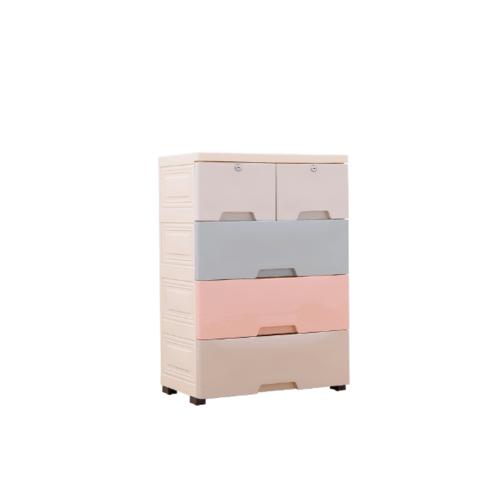 GOME  ตู้ลิ้นชักเก็บของ แบ่งช่อง 4ชั้น ขนาด W34×L57×H82  สีพาสเทล  F4814