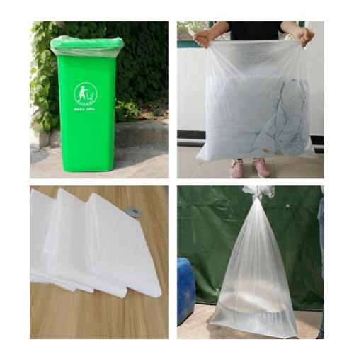 """ICLEAN ถุงขยะ มีหู หนาพิเศษ ขนาด 36""""x45"""" บรรจุ 7 ใบ/แพ็ค - สีขาว"""