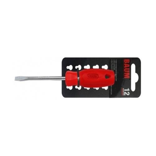 BAUM  ไขควงปากแบน ด้ามแดง   314S-5X75 MM