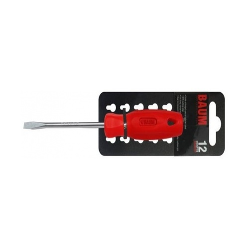 BAUM ไขควงปากแบน ด้ามแดง 6X125 MM.   314S