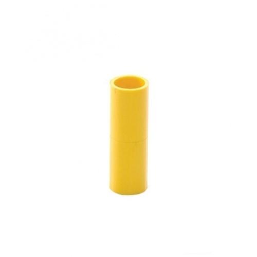 V.E.G ข้อต่อตรงเหลือง 1/2นิ้ว  -  สีเหลือง