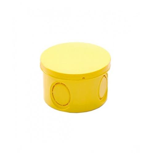 V.E.G กล่องพักสายไฟกลม 3/4 นิ้ว   -  สีเหลือง