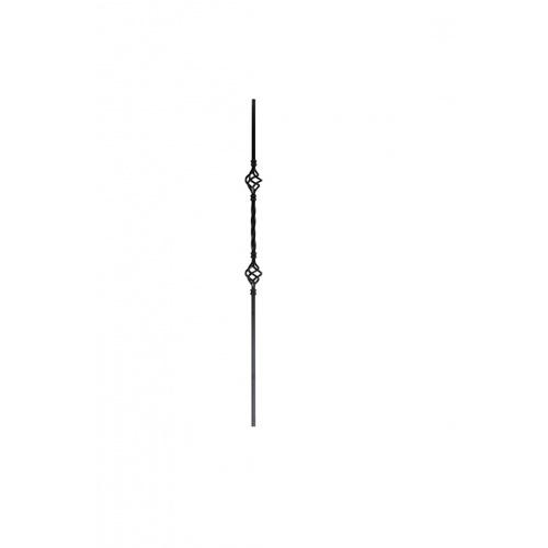 - เหล็กดัดแบบเกลียวตะกร้อคู่ ขนาด 12.7x12.7mm. GB004