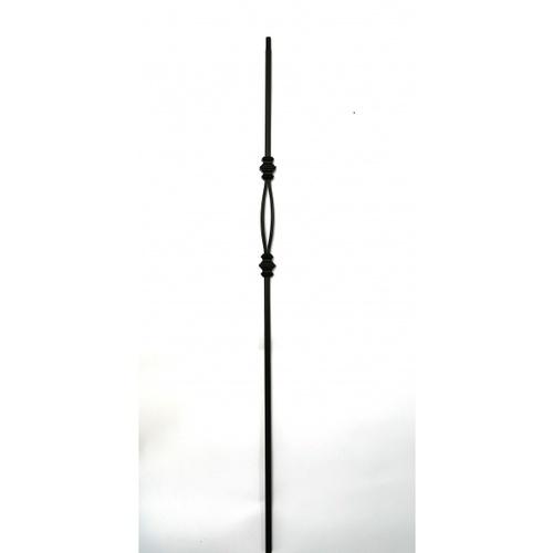 - เหล็กดัดพร้อมตะกร้อเล็ก ขนาด 12.7x12.7mm . GB009
